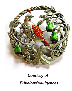 Christmas Jewelry Collection Pear Tree