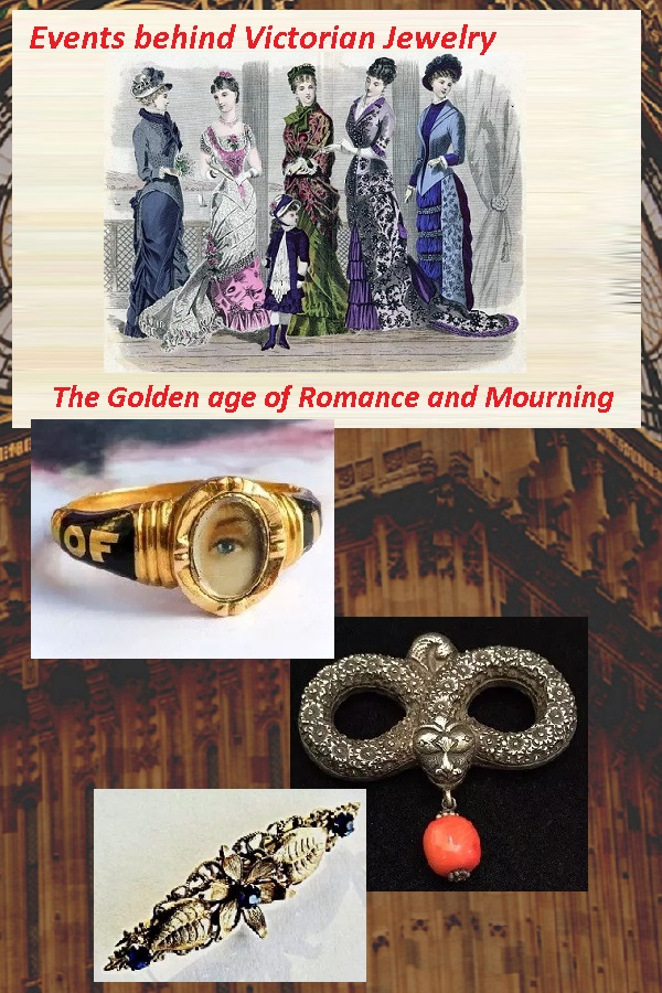 Events behind Victorian Jewelry the Golden age of Romance and Mourning - Estates in Time : Learn about the effects of changing ideals from rationalism to mystic and romanticism on the styles and gemstones used to create Victorian Jewelry.
