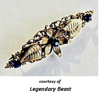 Victorian Jewelry MizPah Cobalt Brooch