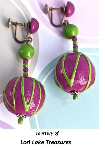 Clashing Earrings Cool Sixties Jewelry