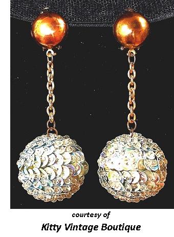 Disco Earrings Cool Sixties Jewelry